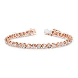 14k Rose and 14k White Gold Bracelet 1 ct. tw.
