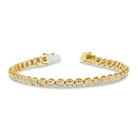 14k Yellow Gold and 14k White Bracelet 1 ct. tw.