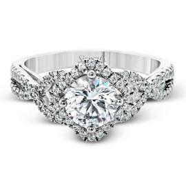 Simon G. 18k White Gold Diamond Engagement Ring Setting 1/3 ct. tw.