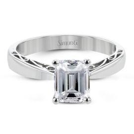 Simon G. 18k White Gold Engagement Ring Setting