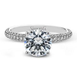 Simon G. 18k White Gold Diamond Engagement Ring Setting 1/2 ct. tw.