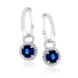 Simon G. 18k White Gold Blue Sapphire Earrings 3/8 ct. tw.