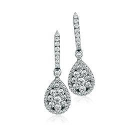 Simon G. 18k White Gold Earrings 7/8 ct. tw.