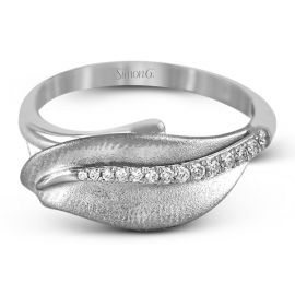 Simon G. 18k White Gold Diamond Wedding Band 1/10 ct. tw.