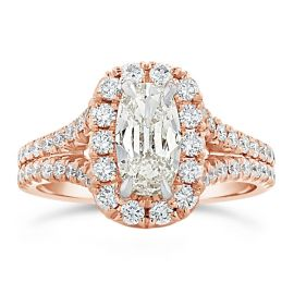 Henri Daussi 18k Rose Gold Diamond Engagement Ring 1 3/4 ct. tw.