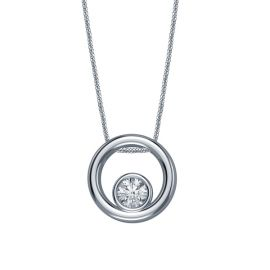 Sterling Silver Pendant .04 ct. tw.