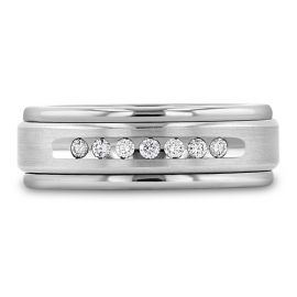 Triton Tungsten and 14k White Gold and Sterling Silver - 1/4 ct. tw.