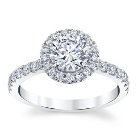 E3 Lab-Grown 14k White Gold Diamond Engagement Ring  1 3/8 ctw