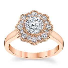 Eternalle Lab-Grown 14k Rose Gold Diamond Engagement Ring 1 ct. tw.