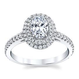 Kirk Kara 18k White Gold Diamond Engagement Ring Setting 1/2 ct. tw.