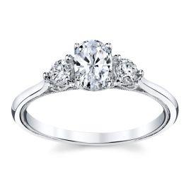 Kirk Kara 14k White Gold Diamond Engagement Ring Setting 1/4 ct. tw.