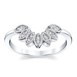 Kirk Kara 14k White Gold Diamond Wedding Band 1/8 ct. tw.