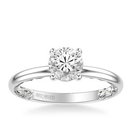 ArtCarved 14k White Gold Engagement Ring Setting ct. tw.