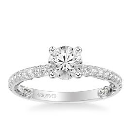ArtCarved 14k White Gold Diamond Engagement Ring Setting 1/3 ct. tw.