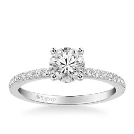 ArtCarved 14k White Gold Diamond Engagement Ring Setting 1/3 ct. tw.
