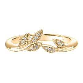 ArtCarved 14k Yellow Gold Diamond Wedding Band .04 ct. tw.