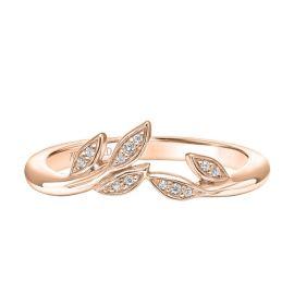 ArtCarved 14k Rose Gold Diamond Wedding Band .04 ct. tw.