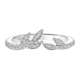 ArtCarved 14k White Gold Diamond Wedding Band 1/6 ct. tw.