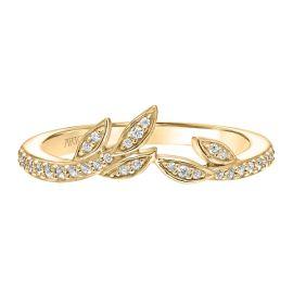 ArtCarved 14k Yellow Gold Diamond Wedding Band 1/6 ct. tw.