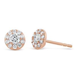 Eternalle Lab-Grown 14k Rose Gold Earrings 1/2 ct. tw.