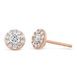 Eternalle Lab-Grown 14k Rose Gold Earrings 1/2 ct. tw.