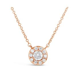 Eternalle Lab-Grown 14k Rose Gold Necklace 1/2 ct. tw.
