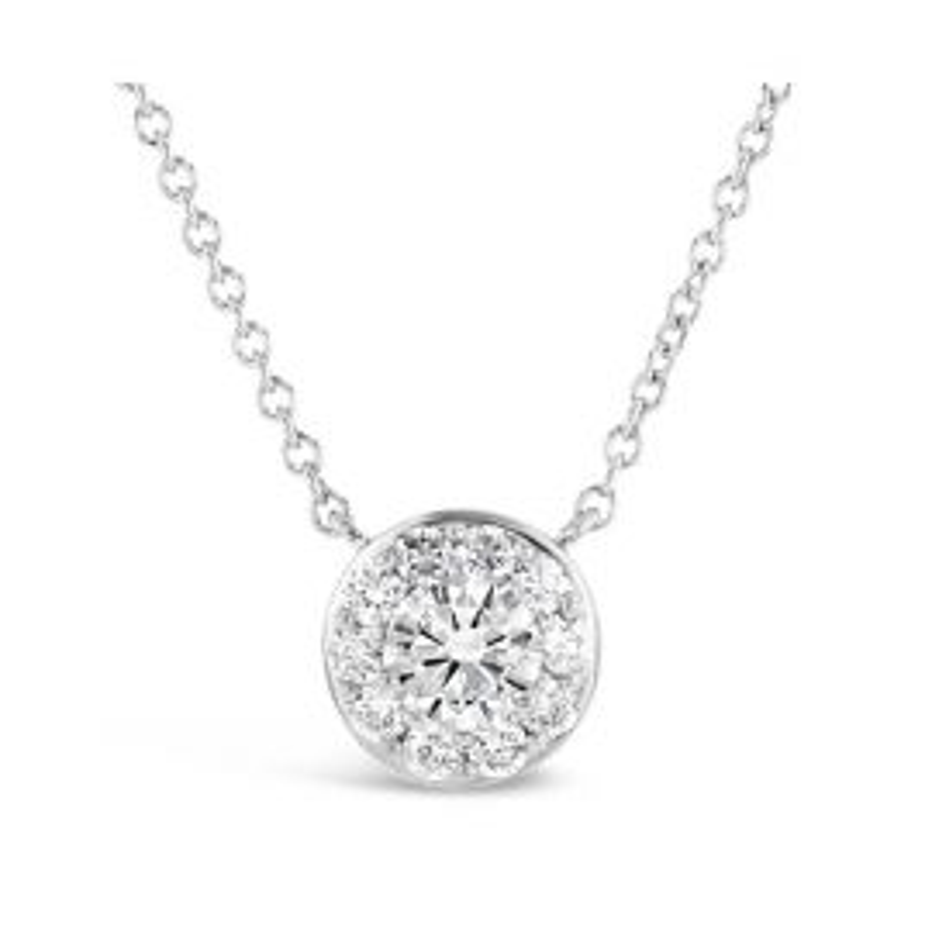 Eternalle Lab-Grown 14k White Gold Necklace 1 ct. tw.