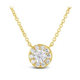 Eternalle Lab-Grown 14k Yellow Gold Necklace 1 ct. tw.