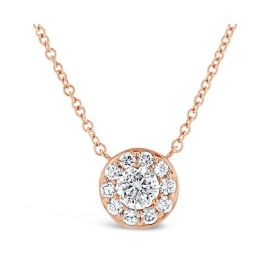 Eternalle Lab-Grown 14k Rose Gold Necklace 1 ct. tw.