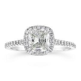 Henri Daussi 18k White Gold Diamond Engagement Ring 1 ct. tw.