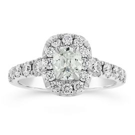 Henri Daussi 18k White Gold Diamond Engagement Ring 1 3/4 ct. tw.