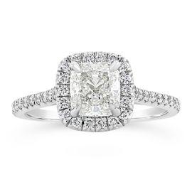 Henri Daussi 14k White Gold Diamond Engagement Ring 1 1/3 ct. tw.