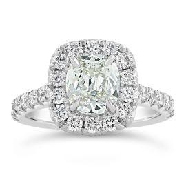 Henri Daussi Platinum Diamond Engagement Ring 2 ct. tw.