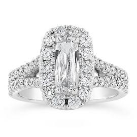 Henri Daussi 18k White Gold Diamond Engagement Ring 1 1/2 ct. tw.