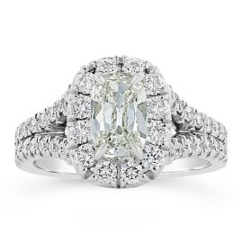 Henri Daussi 18k White Gold Diamond Engagement Ring 1 3/4 ct. tw.