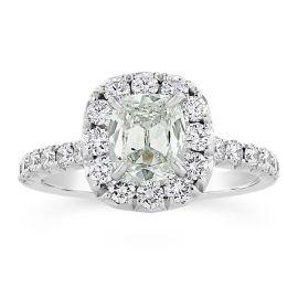 Henri Daussi 14k White Gold Diamond Engagement Ring 1 3/4 ct. tw.