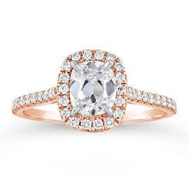 Henri Daussi 14k Rose Gold Diamond Engagement Ring 1 1/3 ct. tw.