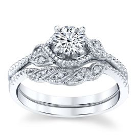 RB Signature 14k White Gold Diamond Wedding Set .05 ct. tw.