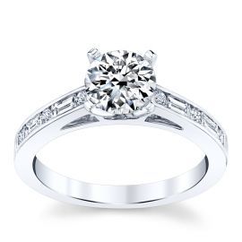 Divine 18k White Gold Diamond Engagement Ring Setting 1/4 ct. tw.