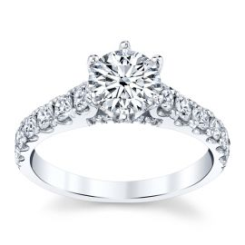 Divine 18k White Gold Diamond Engagement Ring Setting 3/4 ct. tw.