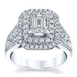 Divine 18k White Gold Diamond Engagement Ring Setting 1 ct. tw.