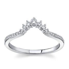 14Kt White Gold Diamond Wedding Band 1/6 cttw