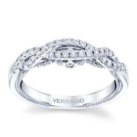 Verragio 18k White Gold Diamond Wedding Band 1/3 ctw