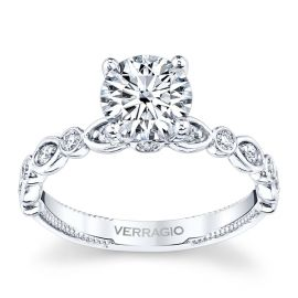 Verragio 14k White Gold Diamond Engagement Ring Setting 1/5 ct. tw.