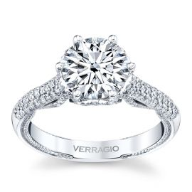 Verragio 18k White Gold Diamond Engagement Ring Setting 1/2 ct. tw.