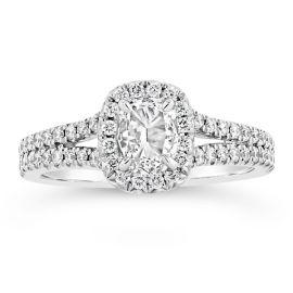Henri Daussi 18k White Gold Diamond Engagement Ring 3/8 ct. tw.