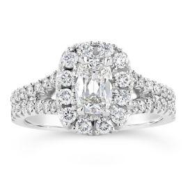Henri Daussi 18k White Gold Diamond Engagement Ring 1 3/8 ct. tw.