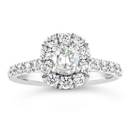Henri Daussi 18k White Gold Diamond Engagement Ring 7/8 ct. tw.
