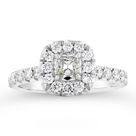 Henri Daussi 14k White Gold Diamond Engagement Ring 5/8 ct. tw.