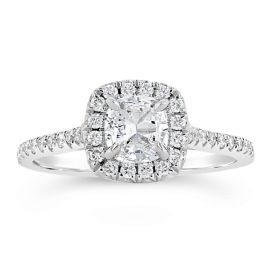 Henri Daussi 18k White Gold Diamond Engagement Ring 1/3 ct. tw.